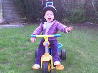Elisha on her bike