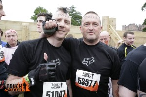 Rob and Cam at the start of Tough Mudder Scotland
