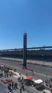 The pylon at IMS after the Indy Lights race