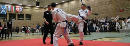 TKD-champions-league-wishaw-sparring
