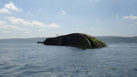 The wreck of The MV Captayannis