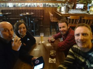 Ade, Jenny, George and Rob at Biercafé de Grendelpoort