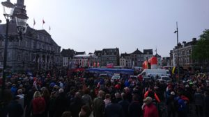 The crowd in the main square at Maastricht