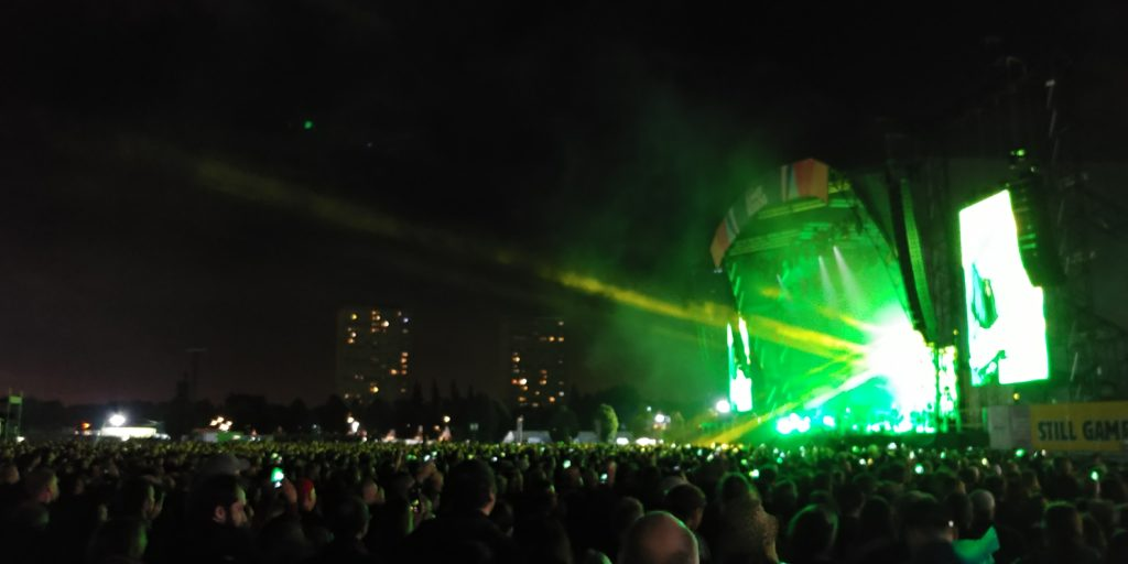 The stage at Glasgow Summer Sessions whilst The Cure played on Friday evening