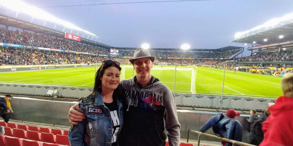 Carol and Rob at Sparta Prague