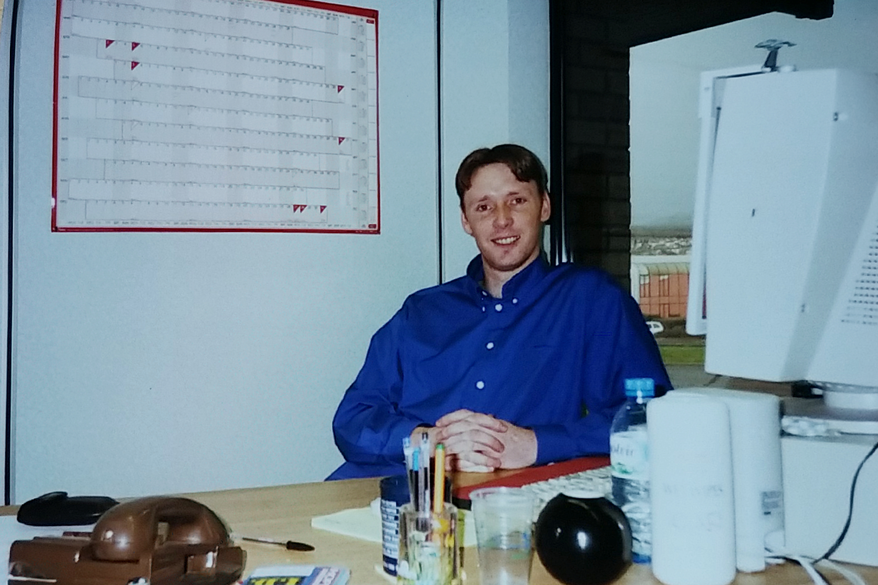 Me at my desk in 1999